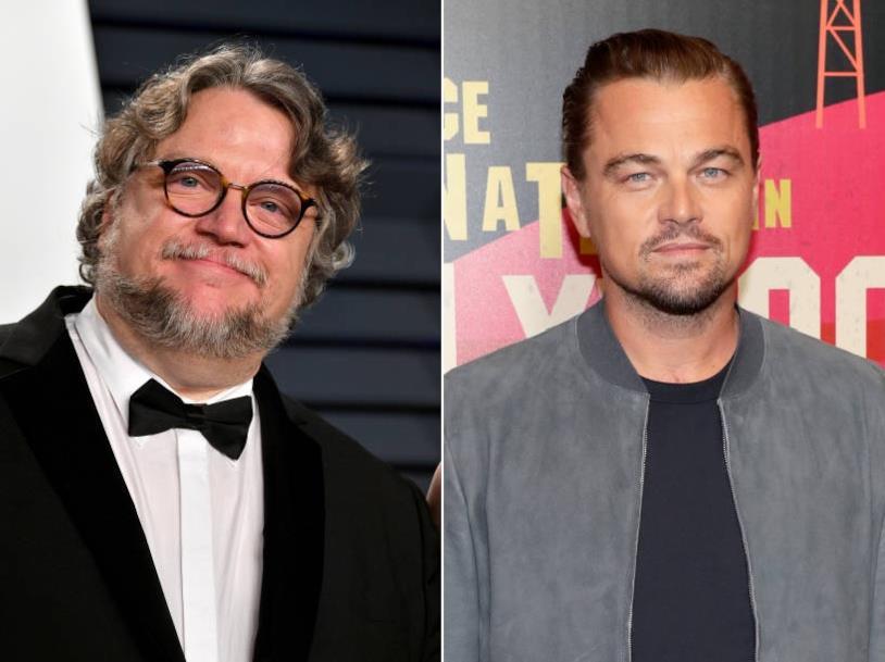 Collage di Guillermo del Toro e Leonardo DiCaprio