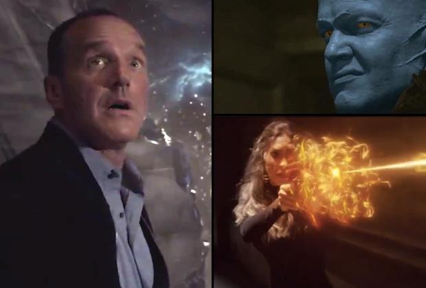 Lo stupore di Coulson, i laser di Yo-Yo e lo sguardo minaccioso di un Kree