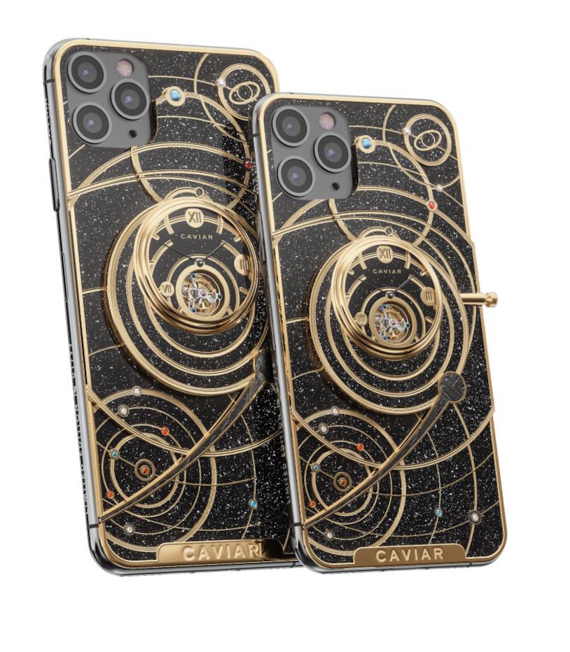 Immagine stampa di iPhone 11 Pro Max (sinistra) e iPhone 11 Pro (destra) nella versione firmata Caviar
