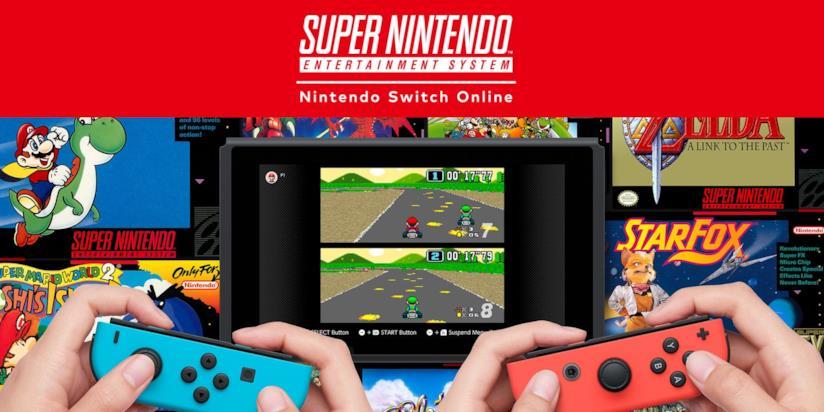 Un'immagine promozionale dei giochi SNES su Nintendo Switch Online