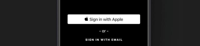 Immagine promozionale della nuova opzione di log-in Sign in with Apple