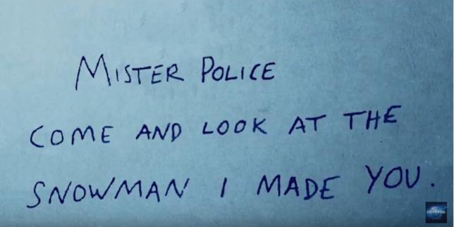 Biglietto del killer de L'Uomo di Neve