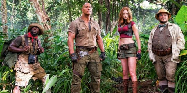 Jumanji 2 il cast nella giungla