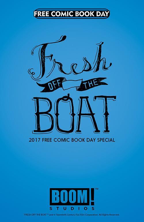 La copertina del fumetto Fresh Off the Boat