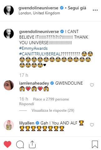 Il commento di Lily Allen alla nomination di Gwendoline Christie
