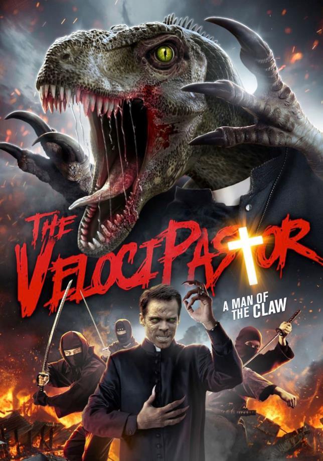 Il poster di The VelociPastor è trash puro