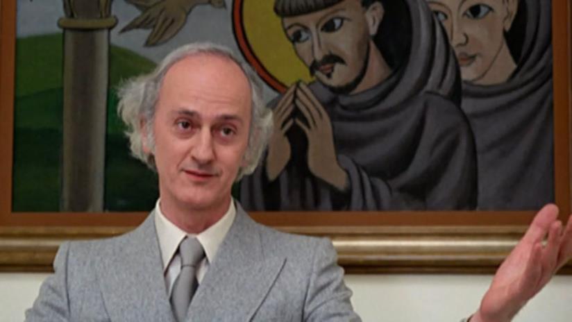 Paolo Paoloni nella celebre sequenza finale del primo Fantozzi