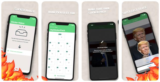 Screen dell'applicazione Sticker Maker per creare adesivi per WhatsApp
