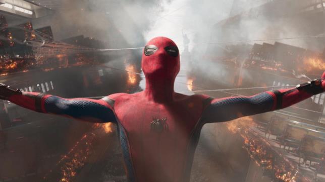 Una sequenza d'azione tratta da Spider-Man: Homecoming
