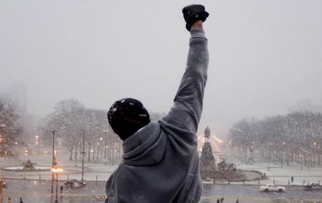 Rocky in una scena da Rocky Balboa, sesta pellicola della saga