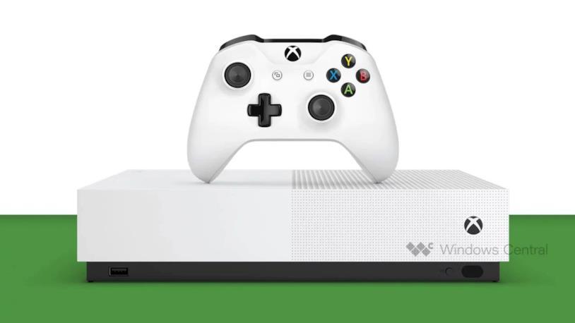 Xbox One S All Digital, sprovvista di lettore ottico