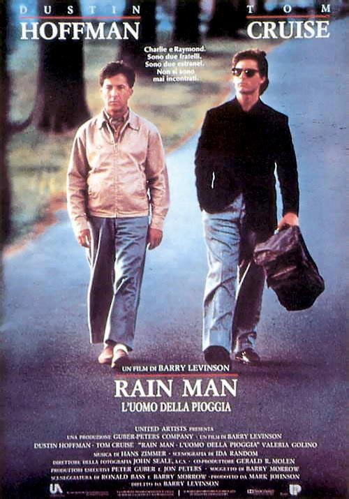 Il poster italiano di Rain Man - L'uomo della pioggia