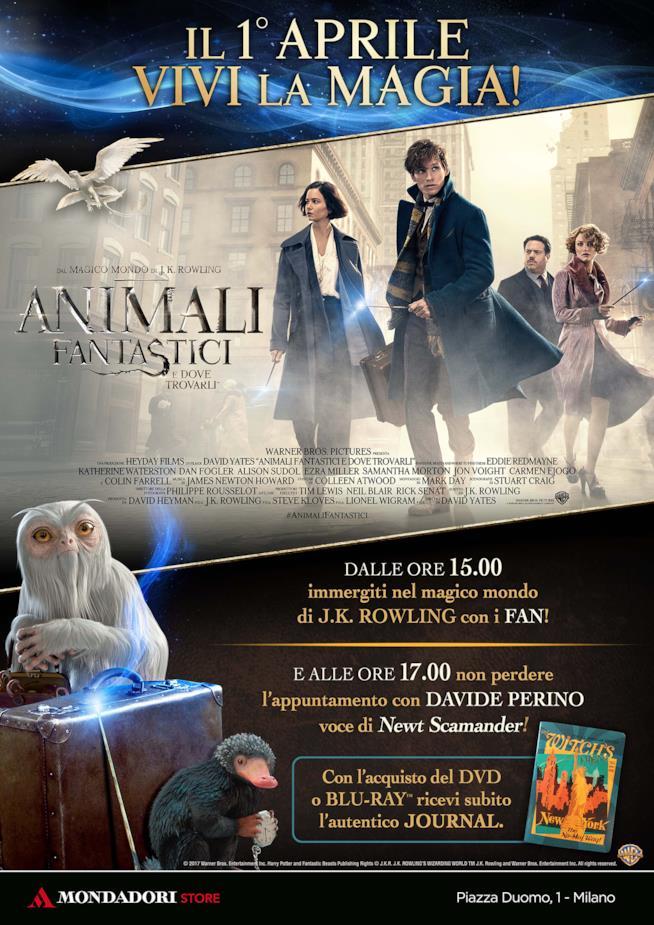 Poster degli eventi per l'uscita Home Video di Animali Fantastici e Dove Trovarli