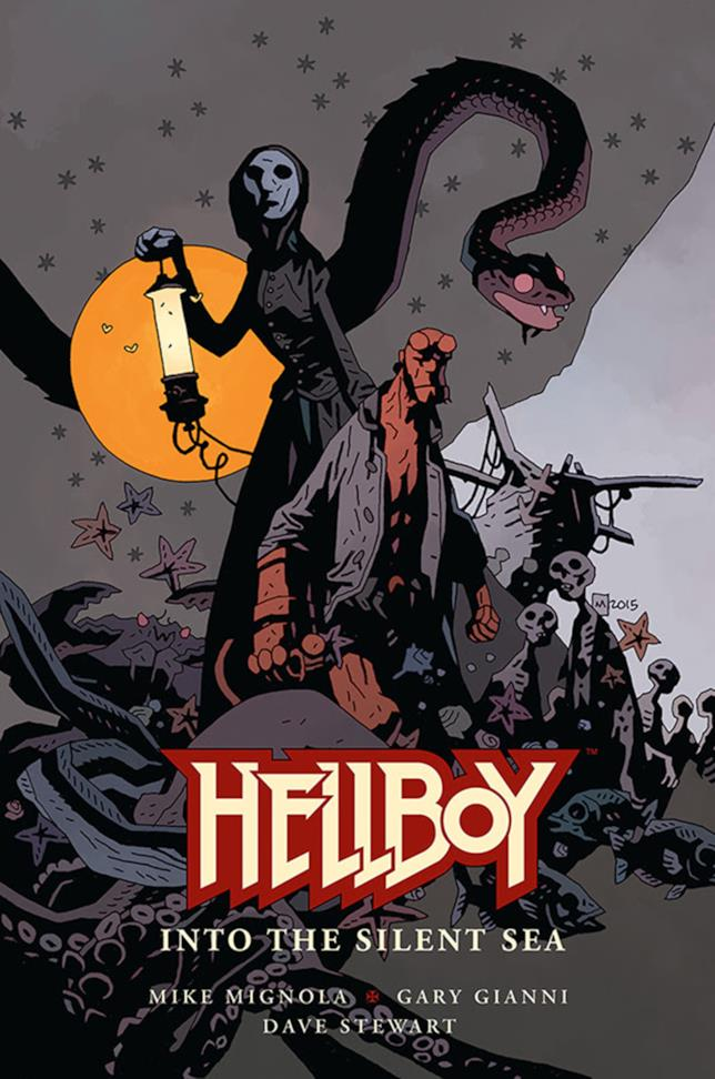 La copertina della nuova graphic nove di Mike Mignola, Hellboy: Into the Silent Sea