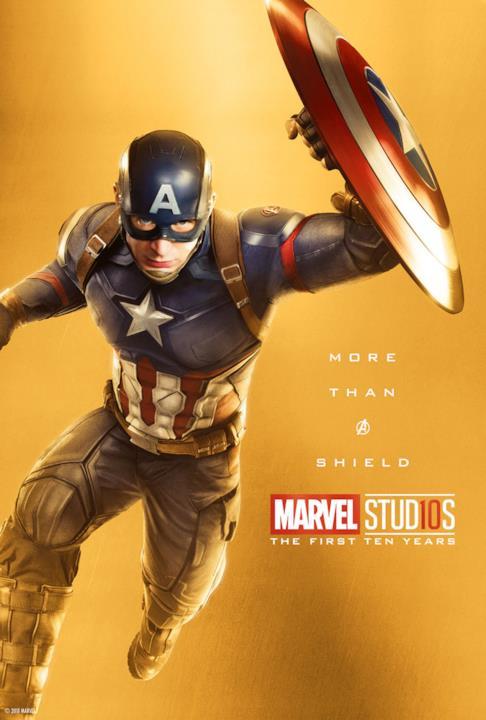 10 anni di Studi Marvel: il character poster di Capitan America
