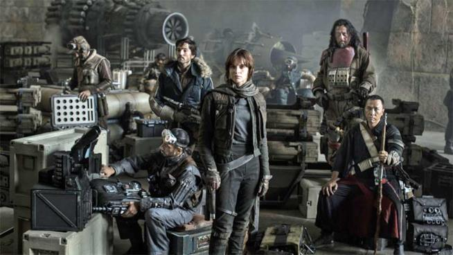 Rogue One: A Star Wars Story, foto di gruppo
