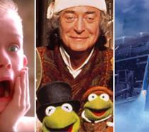 Da sinistra: una scena da Mamma, ho perso l'aereo, una da Festa in casa Muppet e da Polar Express