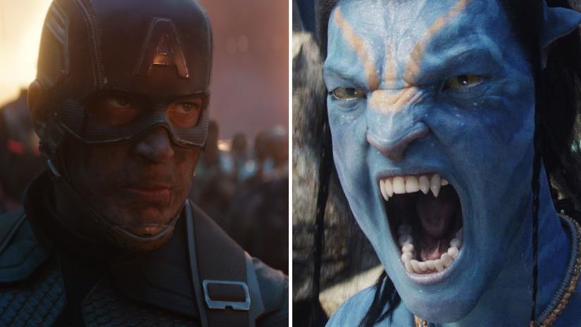 A sinistra Capitan America dal film Avengers: Endgame e a destra Jake Sully dal film Avatar