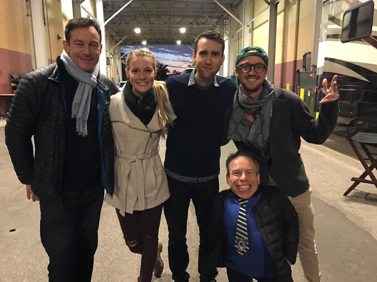 Jason Isaacs, Matthew Lewis, Tom Felton e Warwick Davis posano insieme