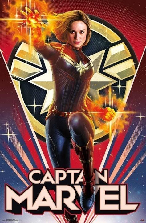 character poster di Captain Marvel dedicato a Carol Danvers