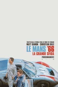 Christian Bale e Matt Damon nel teaser poster di Le Mans '66