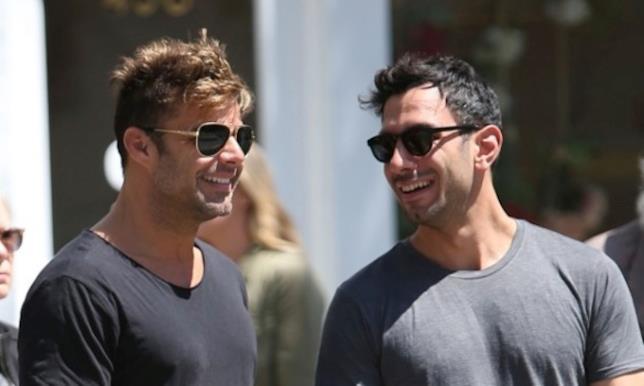Ricky Martin in compagnia del futuro marito Jwan Yosef