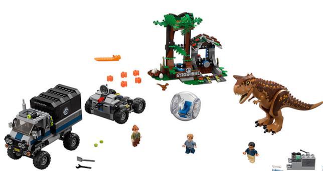 Dettagli del set LEGO Fuga dal Carnotaurus sulla girosfera