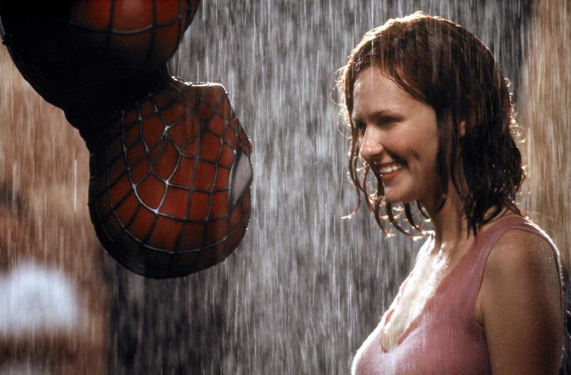 Kirsten Dunst in una scena di Spider-Man