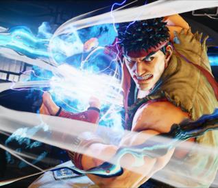 Ryu in una sequenza di Street Fighter V
