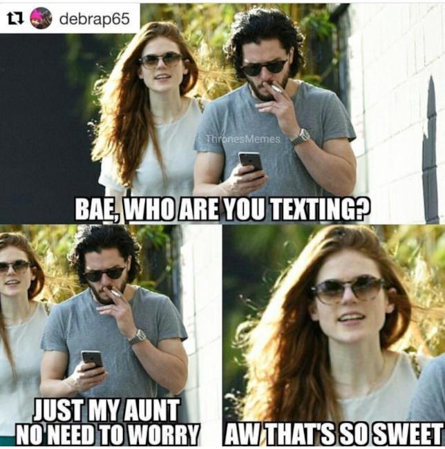 Jon Snow messaggia la zia