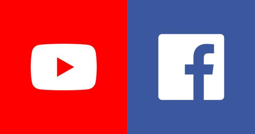 I loghi di YouTube e Facebook