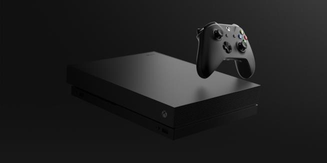 Un render ufficiale di Xbox One X