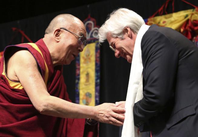 Richard Gere con il Dalai Lama