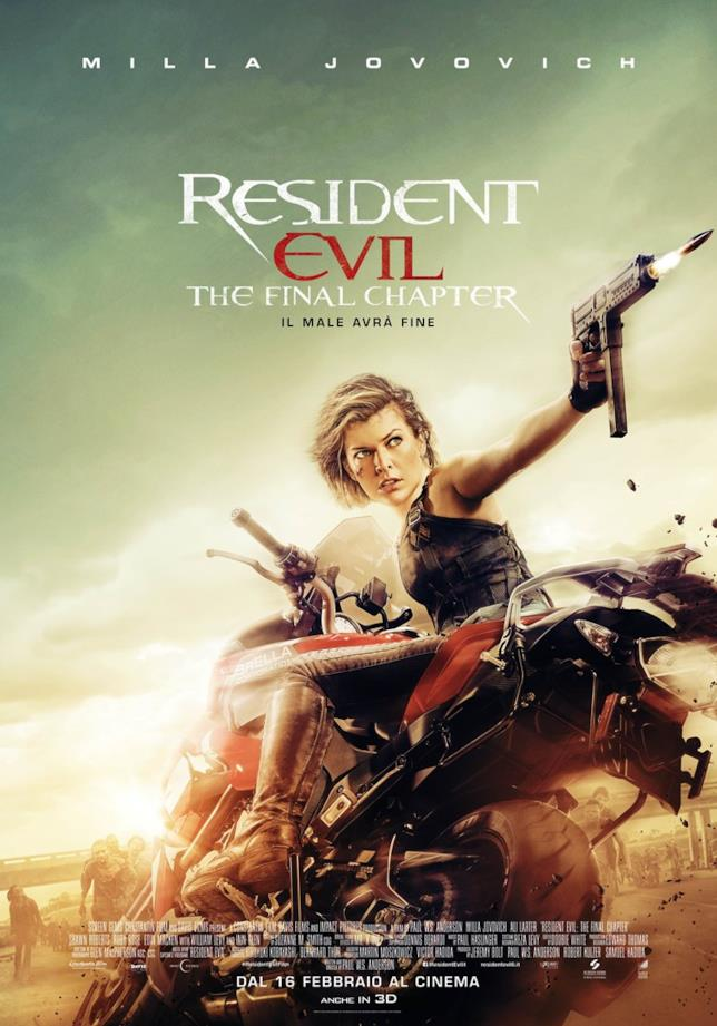 Il poster italiano dell'ultimo capitolo della saga appena conclusasi con Resident Evil: The Final Chapter
