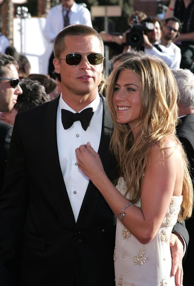 Jennifer Aniston con l'ex marito Brad Pitt