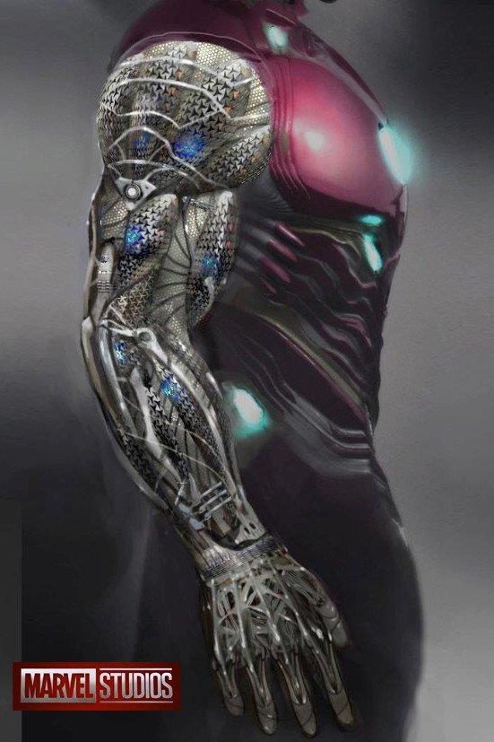 Concept art di Daren Horley per l'armatura di Iron Man in Avengers: Infinity War