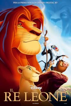 Simba nella locandina italiana de Il re leone