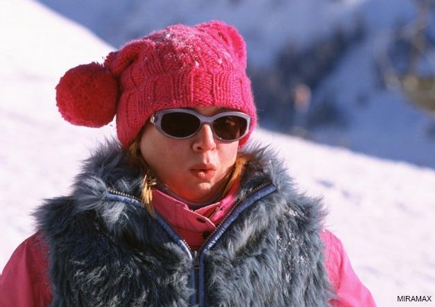 Il look di Bridget Jones sugli sci