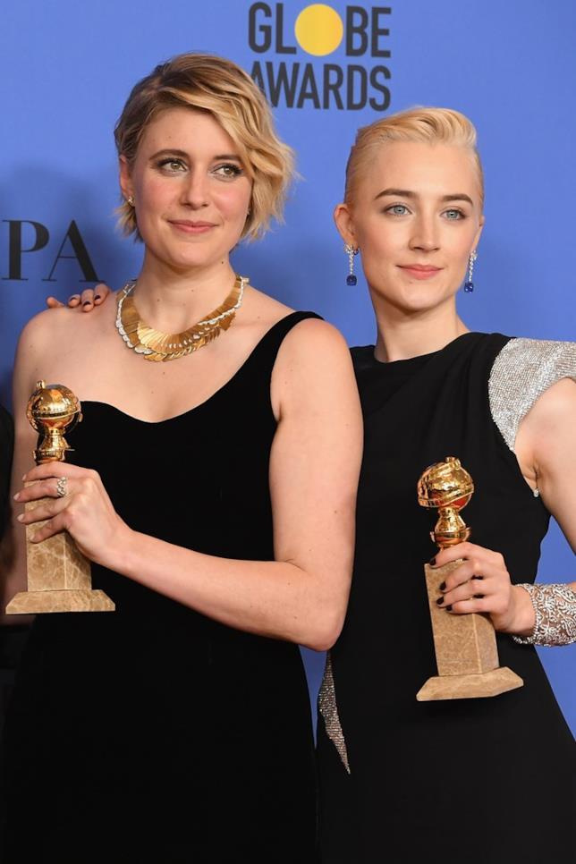 Le vincitrici Greta Gerwig e Saoirse Ronan