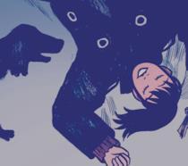 Un dettaglio della copertina di Quando tutto diventò blu