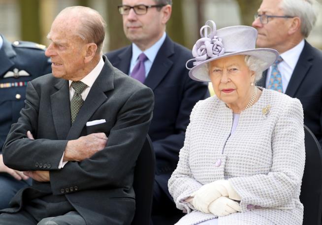 Primo piano della Regina Elisabetta e del Principe Filippo