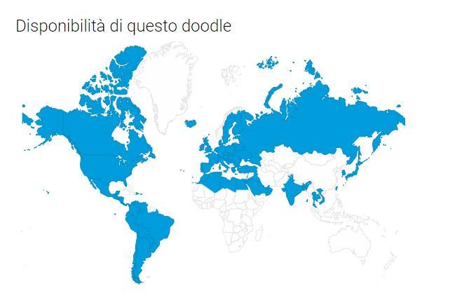 Cartina Doodle Google di oggi