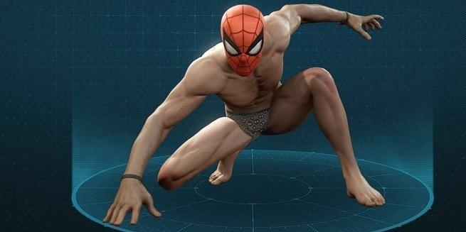 Spider-Man in biancheria intima nel videogame per PS4