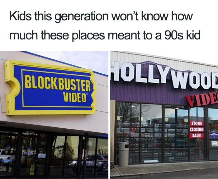 Insegna di Blockbuster Video e Hollywood Video