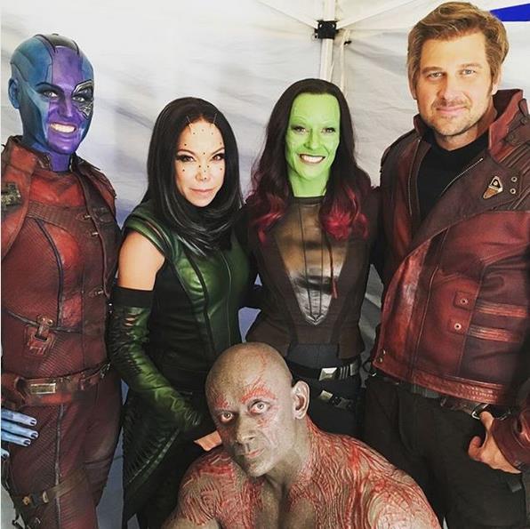 Marvel: foto di gruppo di alcuni stunt double