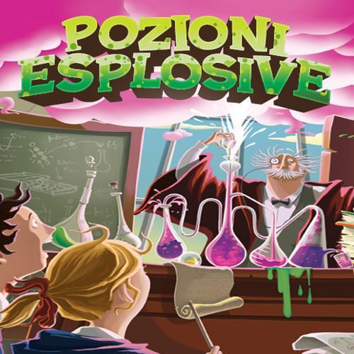 L'illustrazione di copertina di Pozioni Esplosive