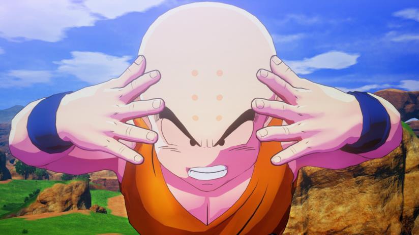 Crilin nel videogame Dragon Ball Z Kakarot