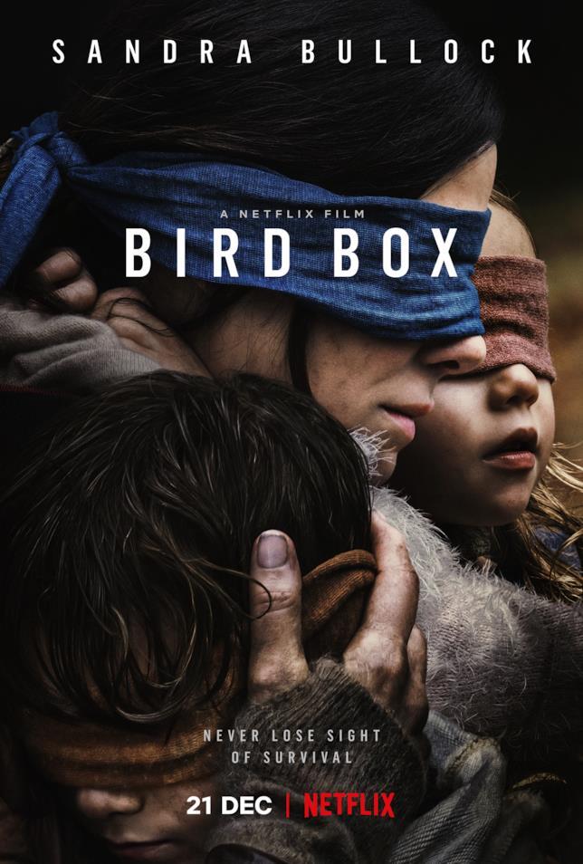 Il poster coi protagonisti di Bird Box