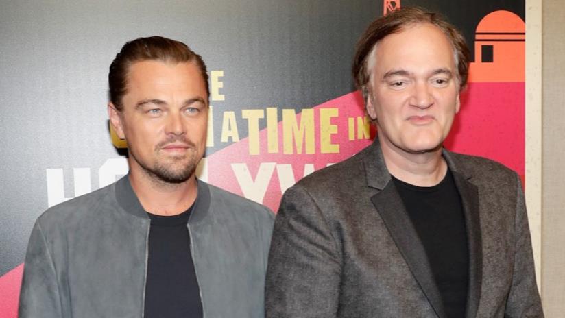 Leonardo DiCaprio e Quentin Tarantino alla presentazione di Once Upon a Time in Hollywood