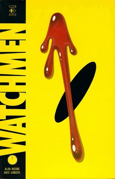 L'occhio di uno smiley da cui cola una goccia di sangue campeggia sulla copertina di The Watchmen